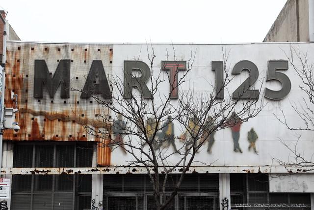 Mart 125, surviving signage, West 125th St, Manhattan