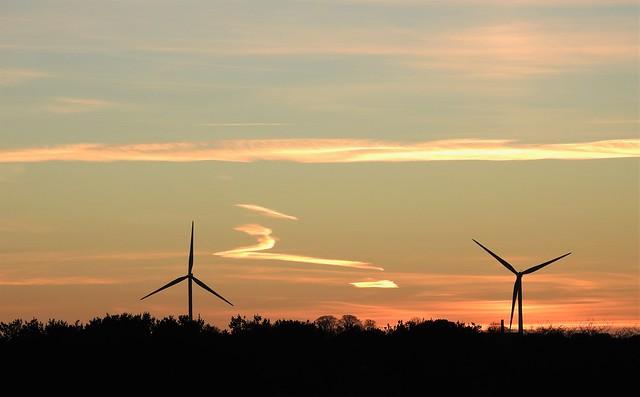 Wind Turbine Sunset - Druridge Wetlands