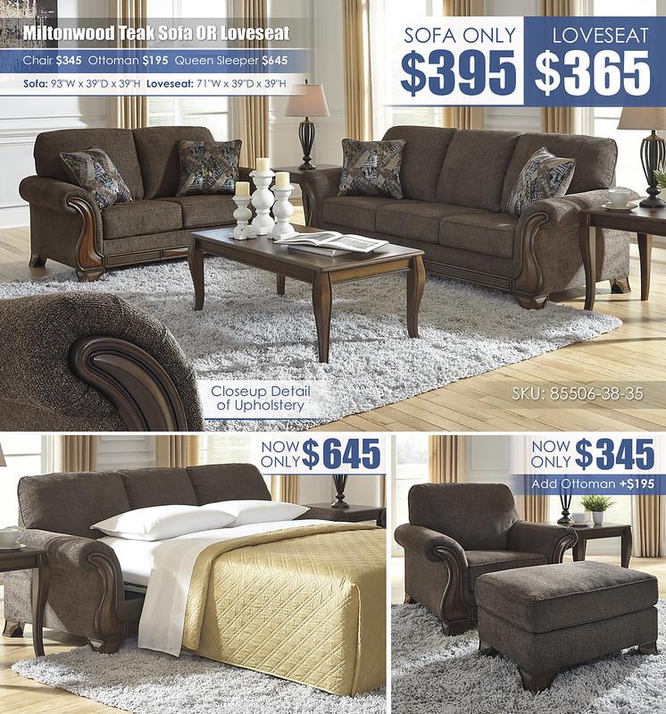 Miltonwood Teak Sofa OR Loveseat_85506-38-35-T317-13