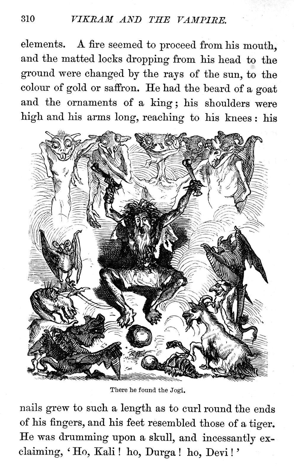 "Ernest Griset - Illustrations from Richard Francis Burton's ""Vikram and the Vampire"" 1870 (09)"