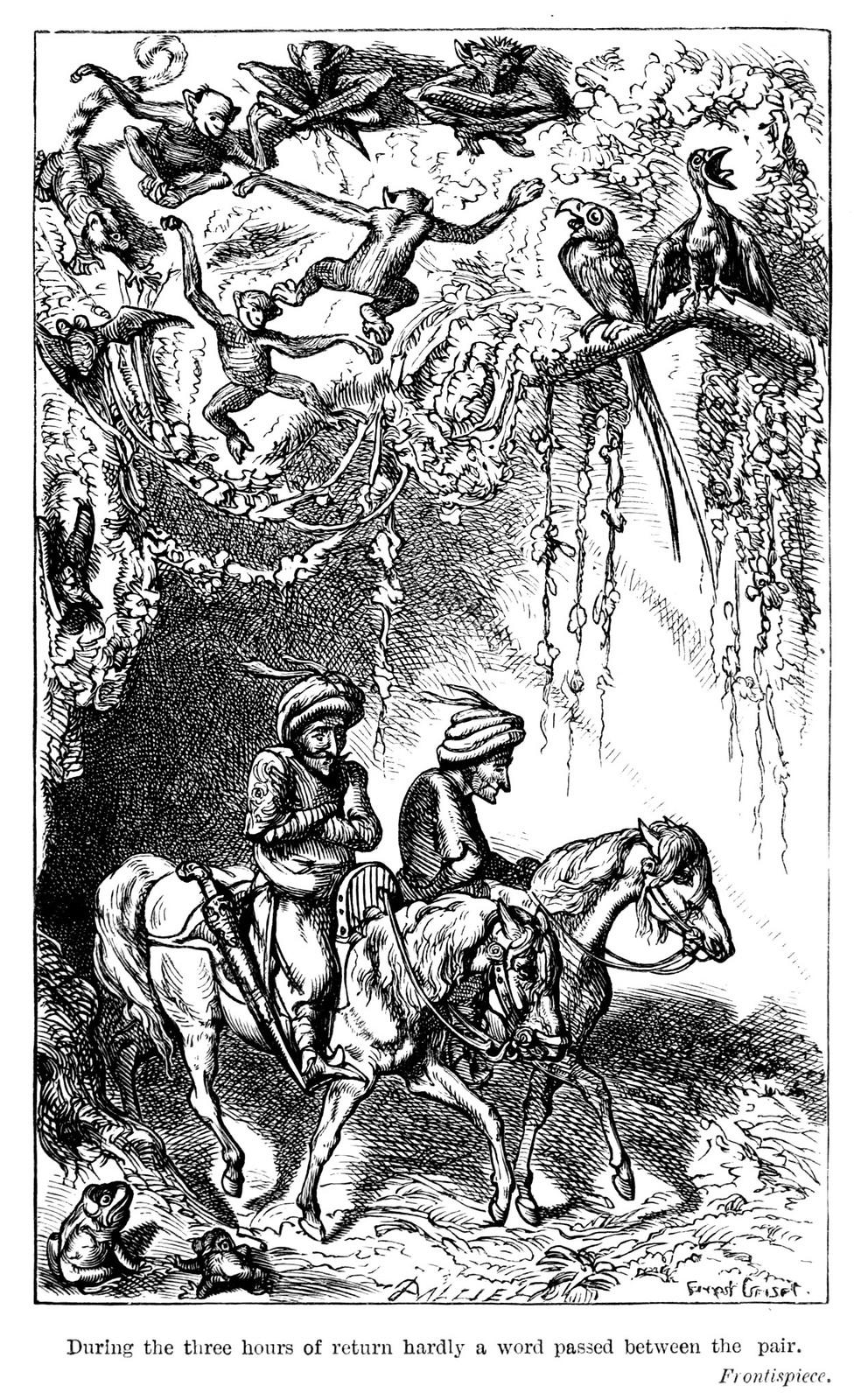 "Ernest Griset - Illustrations from Richard Francis Burton's ""Vikram and the Vampire"" 1870 (07)"
