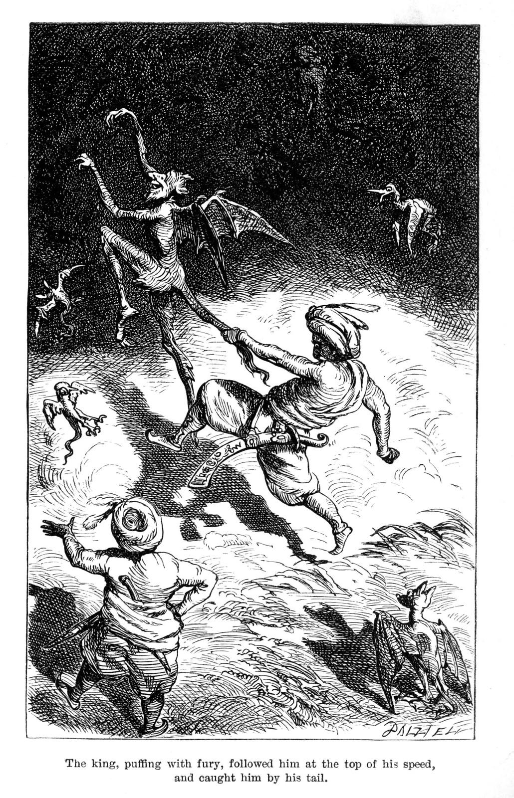 "Ernest Griset - Illustrations from Richard Francis Burton's ""Vikram and the Vampire"" 1870 (04)"