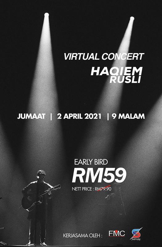 Mengubat Rindu Peminat, Haqiem Rusli Adakan Konsert Secara Maya Pada 2 April Ini