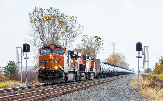 BNSF 5397 67X at Mile 274 Chicago Line