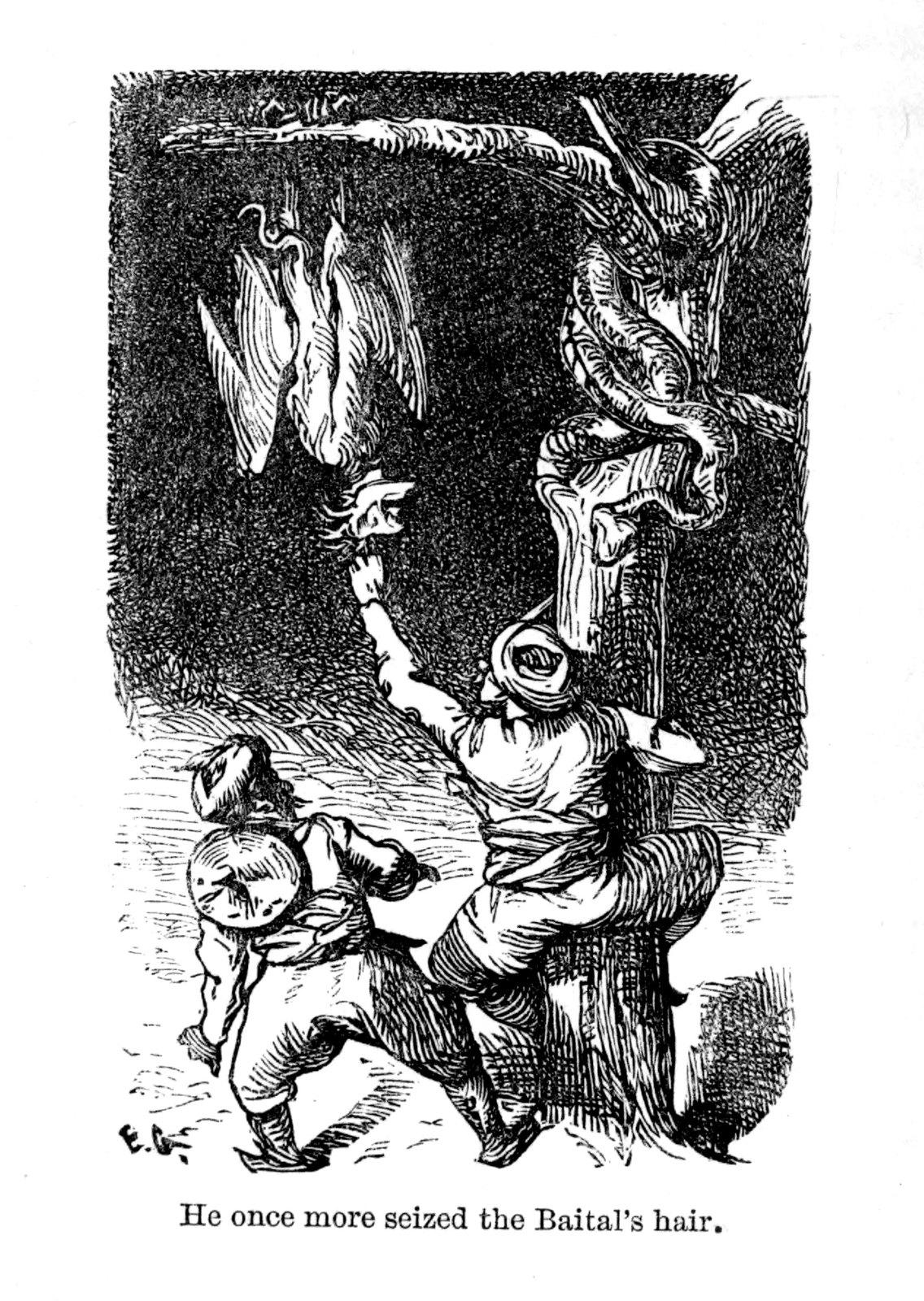 "Ernest Griset - Illustrations from Richard Francis Burton's ""Vikram and the Vampire"" 1870 (11)"