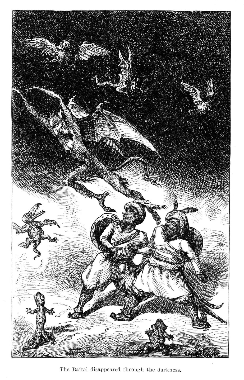 "Ernest Griset - Illustrations from Richard Francis Burton's ""Vikram and the Vampire"" 1870 (06)"