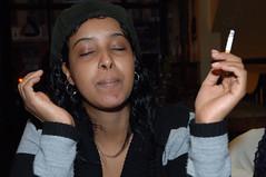 DSC_0131 Jasmine from Somalia Smoking Portrait Sunday Lunch Shoreditch London