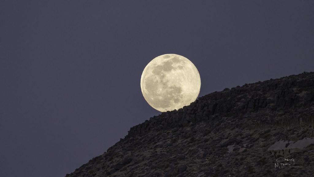 Moon rising on the Moon