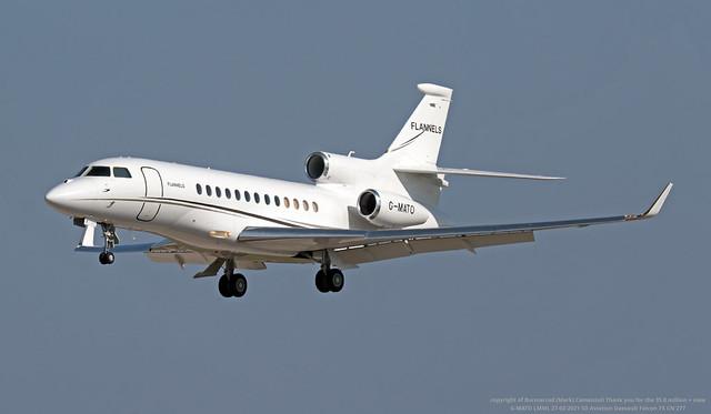G-MATO LMML 27-02-2021 SD Aviation Dassault Falcon 7X CN 277