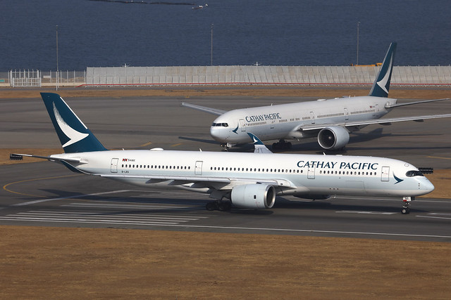 B-LRS, Airbus A350-900, Cathay Pacific, Hong Kong