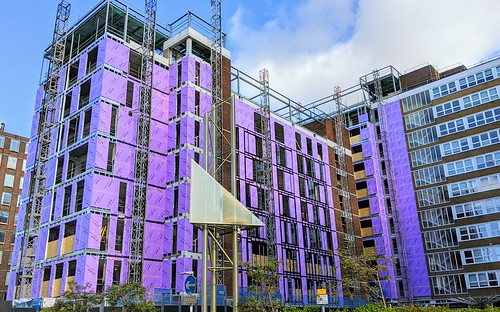 Colourful construction site in Preston | by Tony Worrall