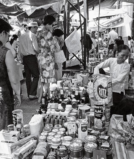 Black-market sales in Saigon