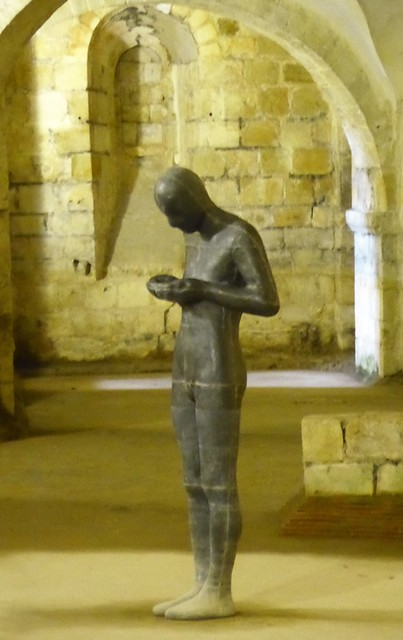 Winchester Cathedral, Crypt, Antony Gormley, Sound II (1986)