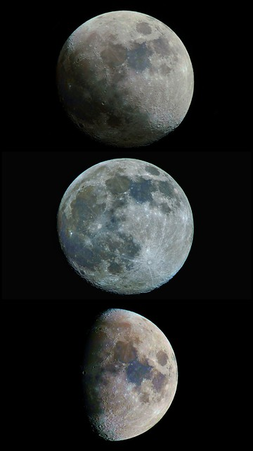 Few faces of the Moon