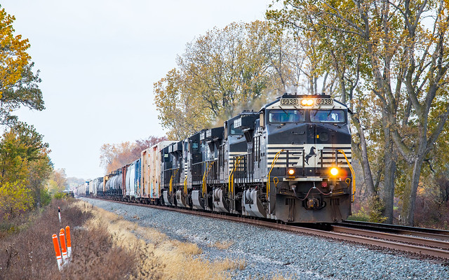 NS 9938 18M at Mile 274 Chicago Line