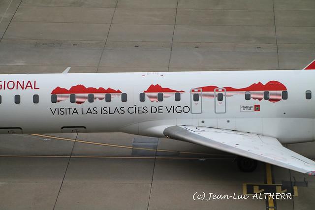 Bombardier CRJ-1000 Air Nostrum/Iberia Regional EC-MRI. GVA, February 27. 2021