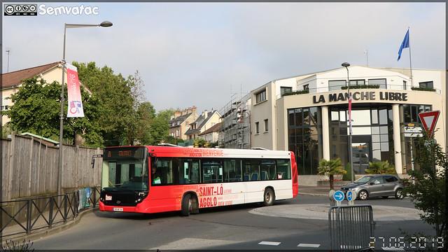 Heuliez Bus GX 327 – Autocars Delcourt / Tusa (Transports Urbains Saint-Lô Agglo) ex Transdev Saint-Lô n°97222