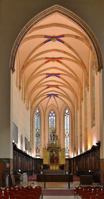 Colmar (Haut-Rhin) - Eglise des Dominicains - Choeur - Retable