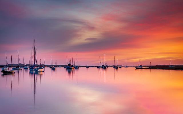 Sunrise Colour over Brancaster Staith Norfolk