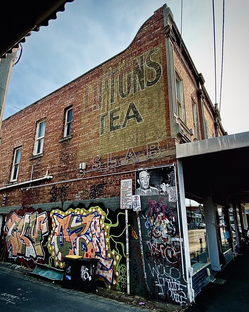 59/365 A rare find. A quite clear ghost sign advertising Lipton's Tea in a laneway in Collingwood Melbourne.