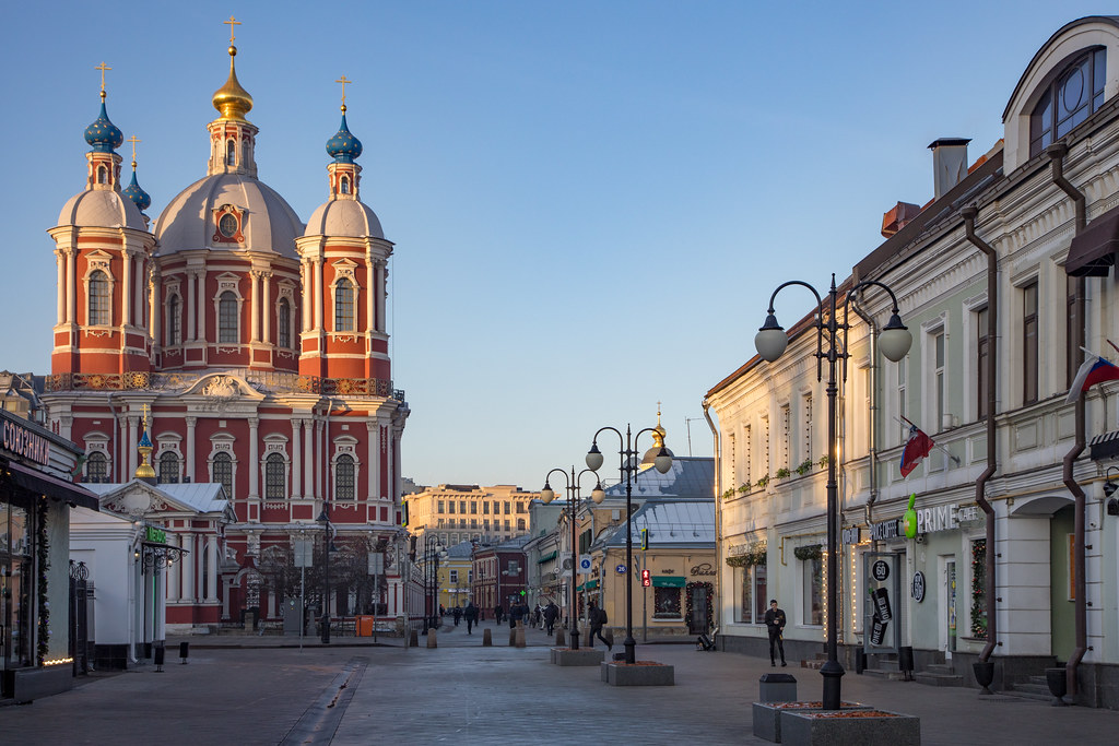St. Clemens in the morning. Moscow, Russia, Dec.2020 (0U4A2217)