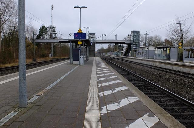 Lauenbrueck, Bahnhof, Februar 2021