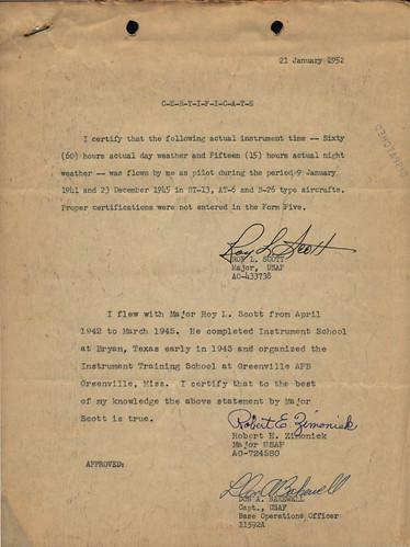 Maj. Robert E. Zimonick Affidavit