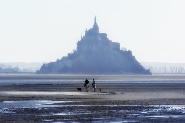 The Mont-Saint-Michel bay