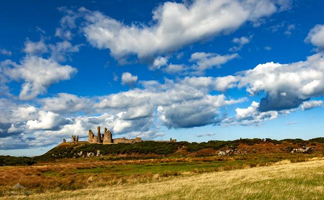 A 14th century castle, Dunstanburgh.
