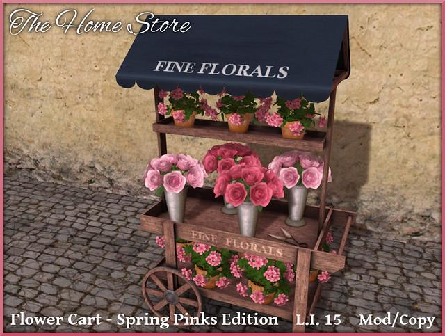 THS FLOWER CART SPRING PINKS EDITION - ADVERT - OB