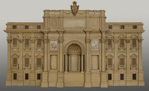 ROMA ARCHEOLOGICA & RESTAURO ARCHITETTURA 2021. ROMA - Un monumento in una stanza - Il grande modello ligneo della fontana di Trevi & Museo di Roma-Palazzo Braschi. ICR (28/11/2017). Foto: Harper's Bazaar, No. 2852 August (1949).