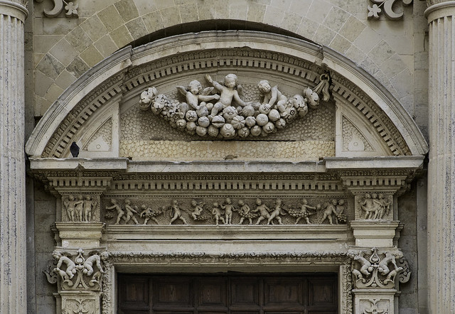 Beautiful Decorative Carving over Door in Lecce - Puglia 59