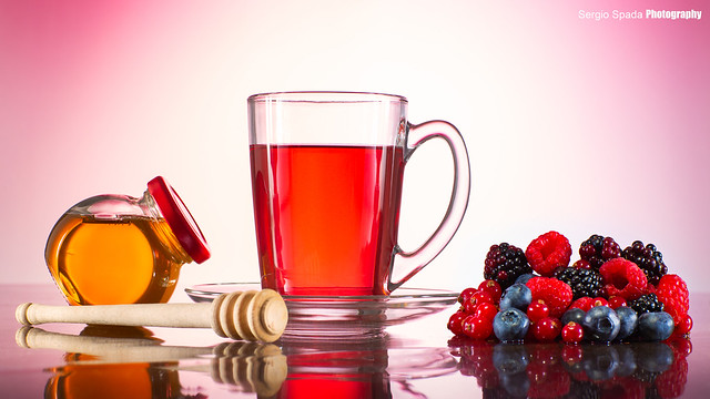 Mix berries tea