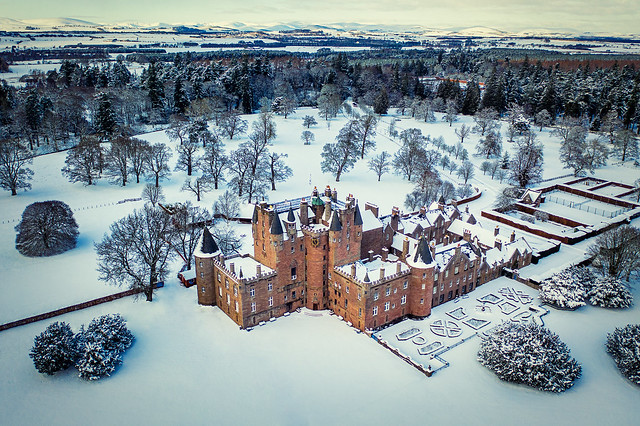 Glamis Castle Winter landscape