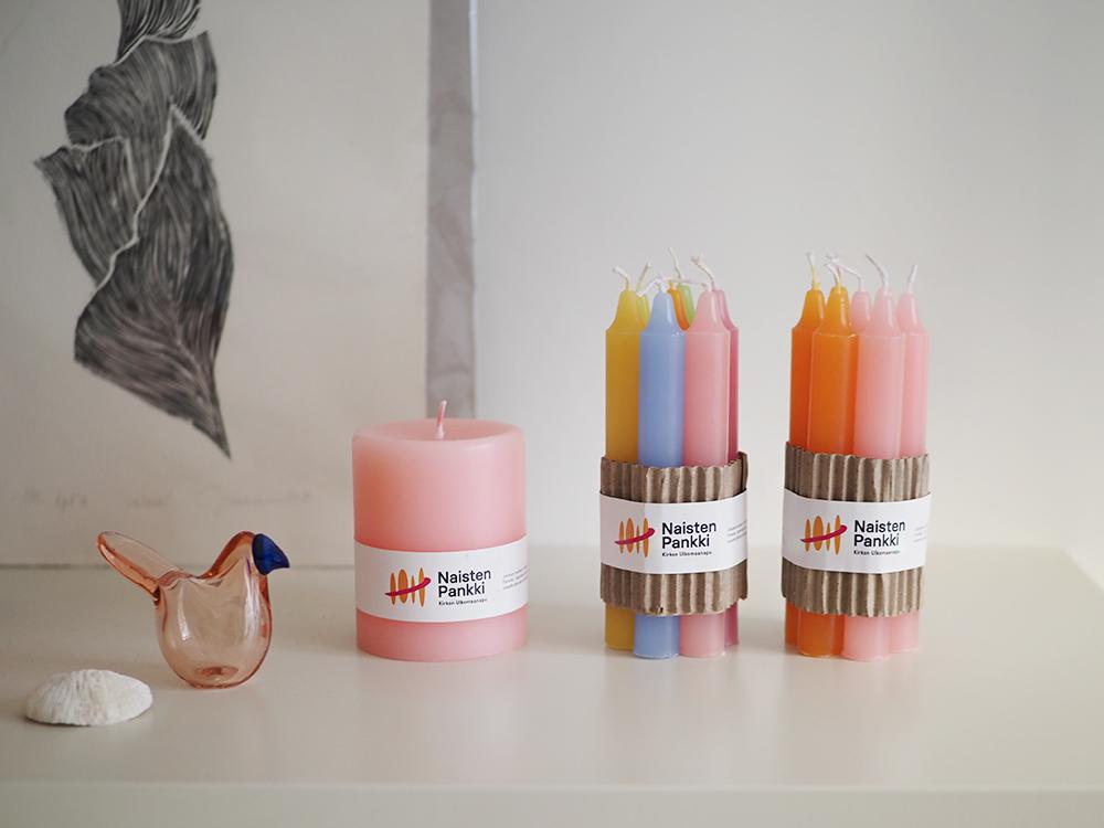 Desico Naisten Pankki kynttilät
