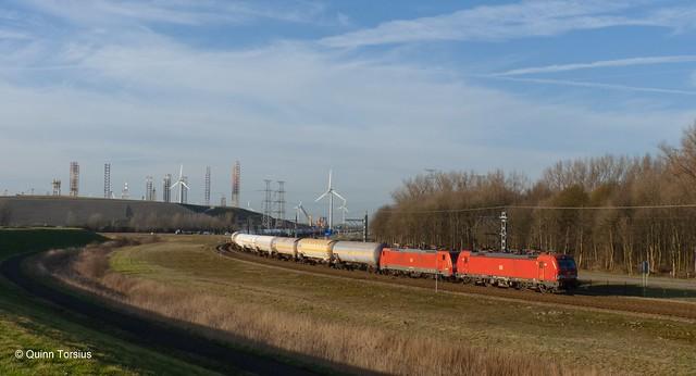 DB BR 193 331 + 189 naar Sloehaven, 28 februari 2021