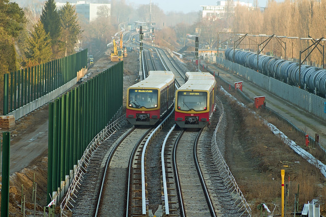 Berlin S-Bahn  Baustelle Dresdner Bahn 28.2.2021