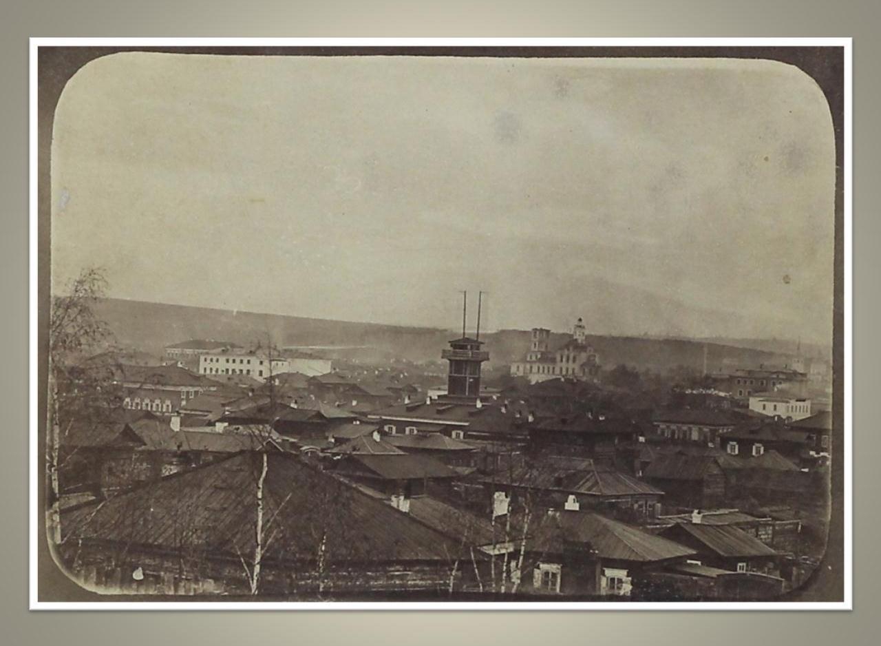 12. Вид от 3-ей Солдатской улицы до Харлампиевской церкви. 1860-е