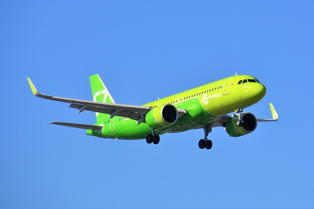 (ORY) Siberia Airlines S7  Airbus A320-214 VP-BWM Landing runway 06 from Moscou