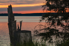 Sunset, Waskesiu Lake, Prince Albert National Park, Sask