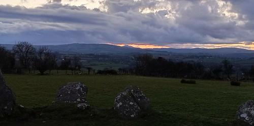 Sunset Beltany Stone Circle