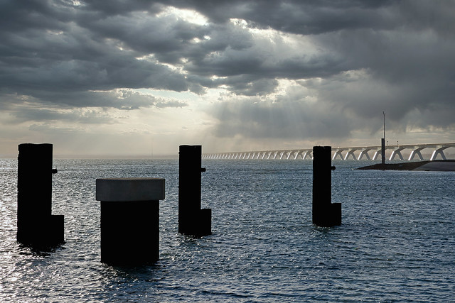 Zeeland bridge backlight