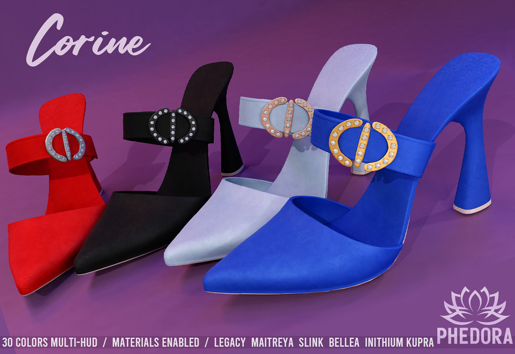 "Phedora. – ""Corine"" Mules NEW RELEASE for The Saturday Sale ♥"
