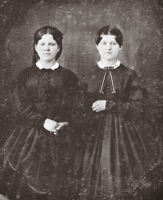 Lydia and Ellen Werner of Stark County, Ohio, 1/6th-Plate Cased Tintype, Circa 1862