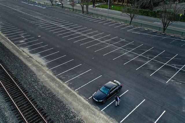 parking lot drone