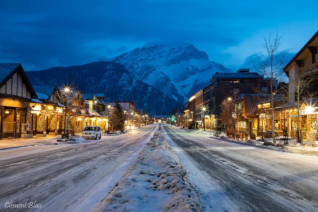 L'heure bleue à Banff