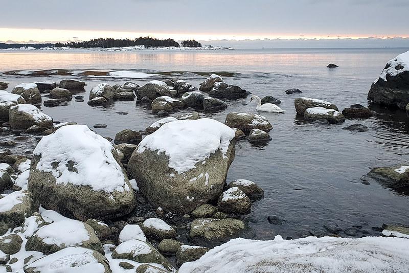 Etelä-Suomen talviretkeilyreitit, Kopparnäs talvella