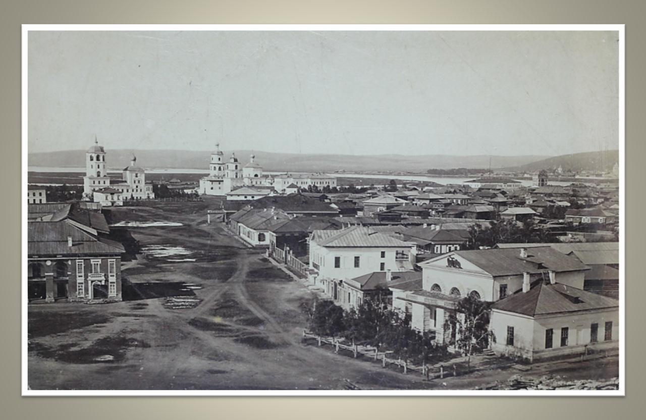 23. Панорама города с колокольни Тихвинской церкви. Вид на правую половину Тихвинской площади. 1865