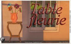 New release : Table Fleurie