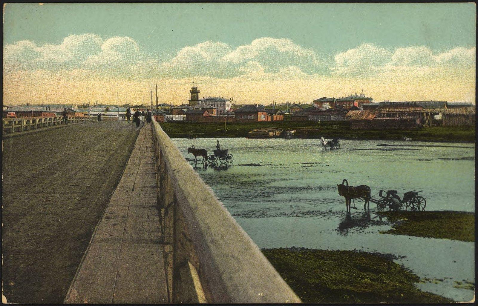 28. Вид города с Большого моста на реке Ушаковке